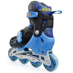 Premium-Roller-Skate-by-New-Bounce-4-Wheel-Inline-Rollerblades-for-Kids-Outdoor-Skating-for-Beginners-Advanced-Pink-Or-Blue-0-0