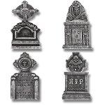Prextex-Pack-of-4-Halloween-Dcor-22-RIP-Graveyard-Lightweight-Foam-Tombstone-Halloween-Decorations-RIP-0