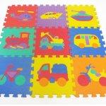 ProSource-Kids-On-The-Move-Interlocking-Puzzle-9-Tiles-Foam-Play-Mat-0