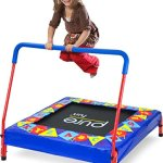 Pure-Fun-Kids-Preschool-Jumper-36-Mini-Trampoline-with-Handrail-Youth-Ages-3-to-7-0-1