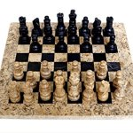 RADICALn-Handmade-Fossil-Coral-and-Black-Marble-Full-Chess-Game-Original-Marble-Chess-Set-0-0