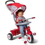 Radio-Flyer-Ez-Quick-Fold-Stroll-N-Sturdy-Steel-Frame-4-Ways-to-Ride-Childrens-Red-Trike-with-Height-adjustable-Push-handle-and-Canopy-0