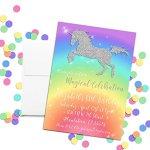 Rainbow-Glitter-Unicorn-Custom-and-Personalized-Invitations-set-of-20-including-envelopes-0-0