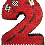 Red-Race-Car-Theme-Number-Two-Pinata-24-Tall-0