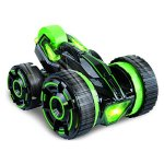 Remote-control-Stunt-Car-Double-face-work-30kmh-rapid-stunt-roller-car-all-terrian-suitable-for-competition-with-lightGreen-0