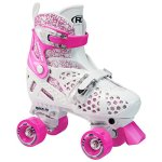 Roller-Derby-Girls-Trac-Star-Adjustable-Roller-Skate-WhitePink-0