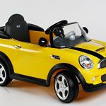 Rollplay-MINI-Cooper-6-Volt-Battery-Powered-Ride-On-Yellow-0-0