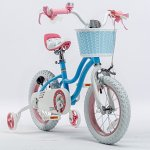RoyalBaby-Stargirl-Girls-Bike-with-Training-Wheels-and-Basket-Perfect-Gift-for-Kids-12-Inch-14-Inch-16-Inch-Blue-Pink-0-1