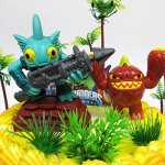 SKYLANDERS-Themed-Birthday-Cake-Topper-Set-Featuring-Skylander-Figures-and-Decorative-Themed-Accessories-0-1
