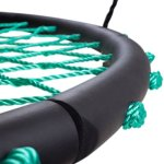SWINGING-MONKEY-PRODUCTS-Tarzan-Tire-40-Spider-Web-Swing-Green–Tree-Swing-Redesigned-Tire-Swing-Extra-Safe-and-Durable-Swing-with-Friends-Easy-Install-for-Swing-Set-or-Tree-0-2