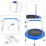 Serenelife-36-Portable-Foldable-Trampoline-In-Home-Mini-Rebounder-with-HandrailSpace-Saver-Fitness-Body-Exercise-SLSPT369-0-1