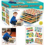 Set-of-6-Educational-Wood-Puzzles-with-Wire-Storage-Rack-0