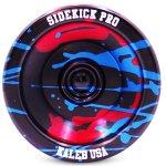Sidekick-Yoyo-Pro-Black-Red-Blue-Splashes-Professional-Aluminum-UNresponsive-YoYo-0-1