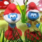 Smurfs-and-Friends-Birthday-Cake-Topper-Set-Featuring-Smurf-Figures-and-Decorative-Themed-Accessories-0-1