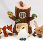 Special-Edition-Plush-Treehouse-with-Animals-Tree-Stump-Five-5-Stuffed-Forest-Animals-Fox-Elk-Bird-Black-Bear-and-Squirrel-0-1