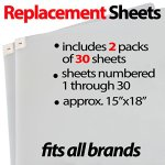 Sticky-Mat-Pad-Replacement-Sheets-Fits-All-Traction-Board-Approximate-Size-15-x-18-Transparent-Great-for-Grip-and-Traction-Volleyball-Wrestling-by-StepNGrip-Transparent-60-Sheets-0-0