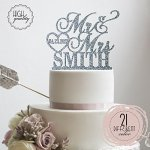 Sugar-Yeti-Brand-Made-in-USA-Cake-Toppers-Custom-Personalized-Mr-Mrs-With-Last-Name-bottom-and-Small-Heart-Wedding-Cake-Toppers-With-Your-Last-Name-Acrylic-Cake-Topper-for-Special-Events-0-2