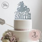 Sugar-Yeti-Brand-Made-in-USA-Custom-Cake-Toppers-Mr-Mrs-Motorcycle-Wedding-Cake-Toppers-Personalized-With-Last-Name-0-0