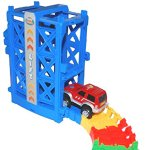 Super-Snap-Speedway-Deluxe-bend-and-flex-track-set-with-3-electric-cars-tunnels-bridge-elevator-ramp-track-merge-and-accessories-over-318-pieces-0-2