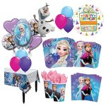 The-Ultimate-8-Guest-54pc-Frozen-Olaf-Anna-Elsa-Birthday-Party-Supplies-and-Balloon-Decoration-Kit-0