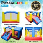 Upgrade-Version-PicassoTiles-KC102-12×10-Foot-Inflatable-Bouncer-Jumping-Bouncing-House-Jump-Slide-Dunk-Playhouse-w-Basketball-Rim-4-Sports-Balls-Full-Size-Entry-Extended-Slider-525W-Blower-0-1