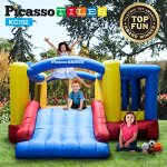 Upgrade-Version-PicassoTiles-KC102-12×10-Foot-Inflatable-Bouncer-Jumping-Bouncing-House-Jump-Slide-Dunk-Playhouse-w-Basketball-Rim-4-Sports-Balls-Full-Size-Entry-Extended-Slider-525W-Blower-0