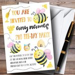 Watercolour-Bumble-Bees-Girls-Childrens-Birthday-Party-Invitations-0