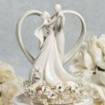 Wedding-Collectibles-Vintage-Rose-Pearl-and-Heart-Wedding-Cake-Topper-0