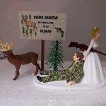 Wedding-Humorous-Camo-Redneck-Deer-Hunter-Hunting-Cake-Topper-0