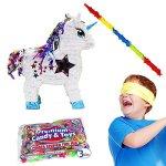 White-Unicorn-Pinata-Kit-Including-Pinata-3-Lbs-Filler-Buster-Stick-and-Bandana-0