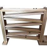 Wooden-Double-Marble-Run-Roller-Track-18-High-with-Free-Marbles-0-1
