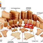 Wooden-Train-Track-Deluxe-Set-110-Pieces-100-Compatible-with-All-Major-Brands-Including-Thomas-Train-Wooden-Railway-System-By-Kids-Destiny-0-0