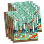 Woodland-Animals-Birthday-Party-Supplies-Set-Plates-Napkins-Cups-Tableware-Kit-for-16-0-1