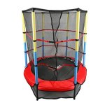 X-MAG-55-Round-Kids-Mini-Trampoline-With-Enclosure-Net-Pad-Rebounder-Outdoor-Exercise-0
