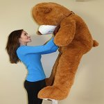 Yesbears-Giant-Teddy-Bear-5-Feet-Brown-Microfiber-Bowtie-Face-Ulra-Soft-0-2
