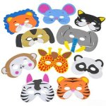 Zoo-Animal-Safari-Party-Supplies-and-Favors-12-Treat-Boxes-12-Animal-Masks-144-Tattoos-12-Paddle-Balls-12-Make-Zoo-Stickers-12-Notebooks-100-Stickers-24-Stampers-1-Zoo-Animal-Tablecloth-0-0