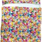 iscream-Emoji-Collage-70-x-28-Faux-Sherpa-Lined-Silky-Fleece-Zippered-Sleeping-Bag-0