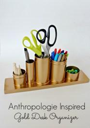 Anthropologie-Knock-Off-Gold-Desk-Organizer