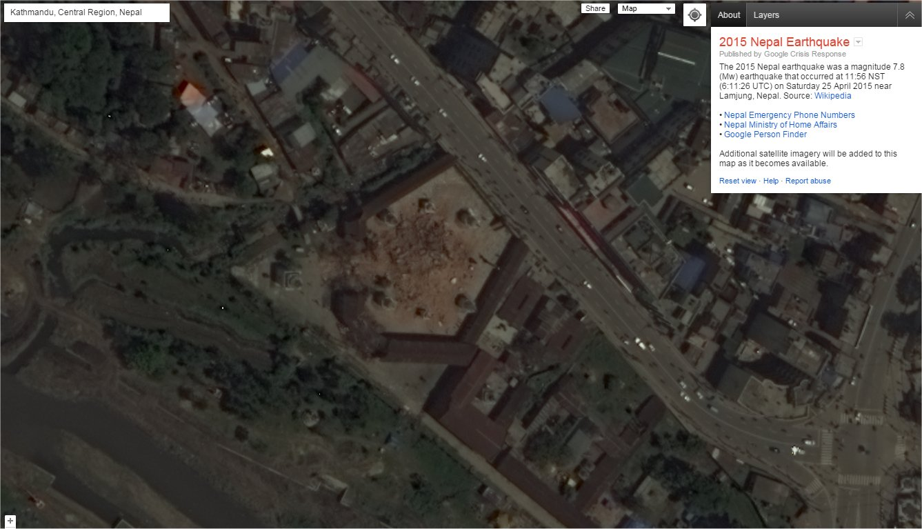 Space-for-All at HobbySpace » Satellite images of Nepal after earthquake
