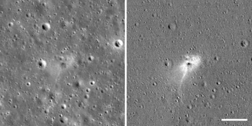 Lunar surface before/after Beresheet impact