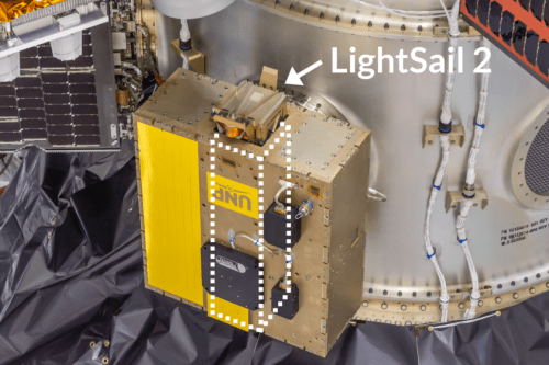 LightSail-2 inside Prox-1