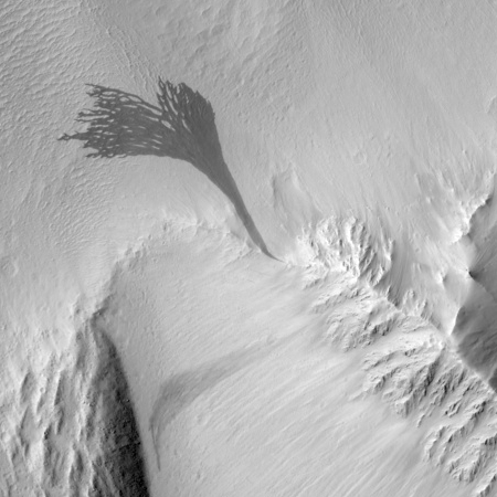 Example of streaks on Martian slopes.
