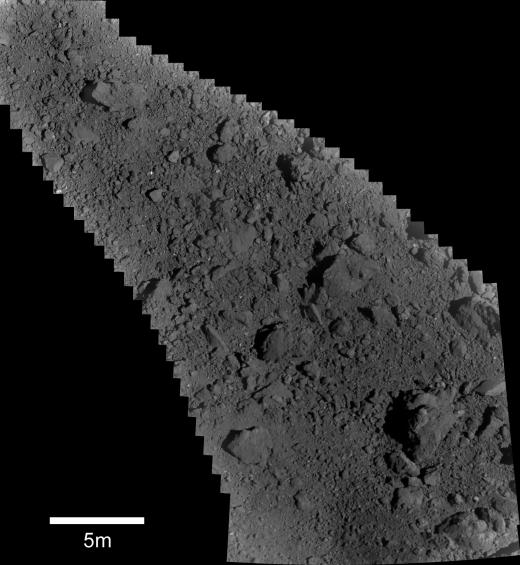 Image of Ryugu surface