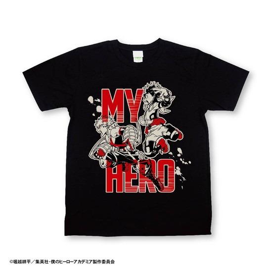 僕のヒーローアカデミア ボトルTシャツ 黒 レデ アニメ・キャラクターグッズ新作情報・予約開始速報