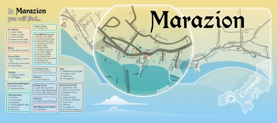 Colour-coded Map for Marazion Chamber of Commerce