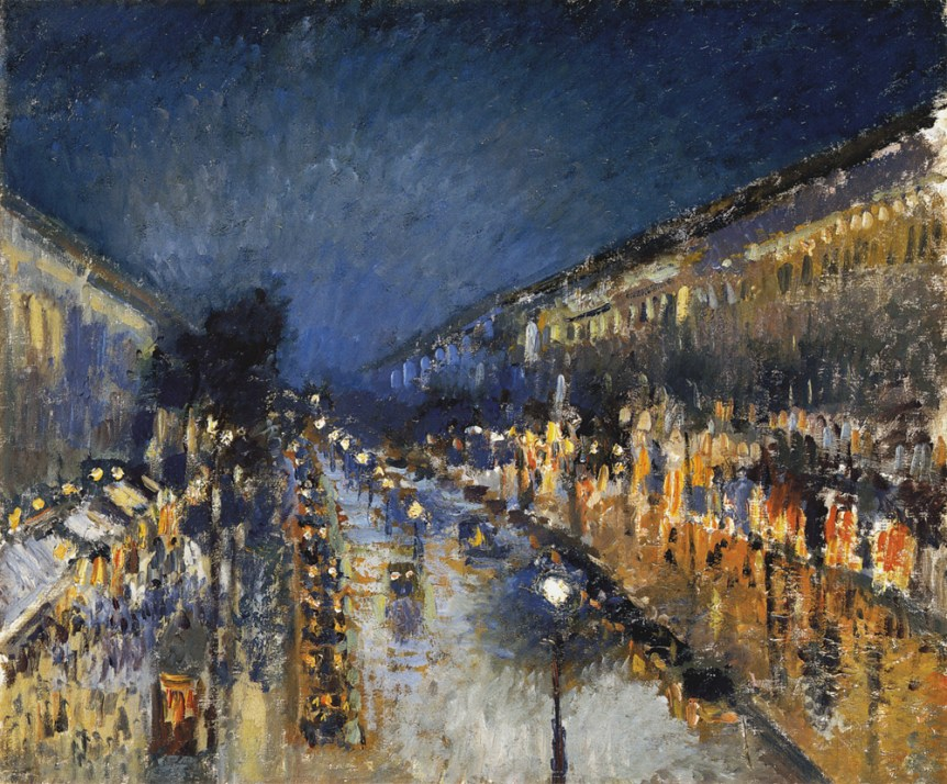 camille_pissarro_the_boulevard_montmartre_at_night