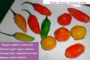 Resep Kue Buah Fantasi (Kacang Hijau)