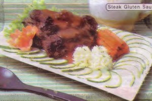 Resep Steak Gluten Saus Pedas