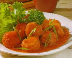 resep-bola-ayam-telur-puyuh-kuah-tomat