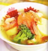 Resep Sup Tofu Udang Sayuran